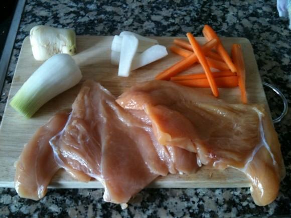 Cocina japonesa: Rollos de pollo al vapor