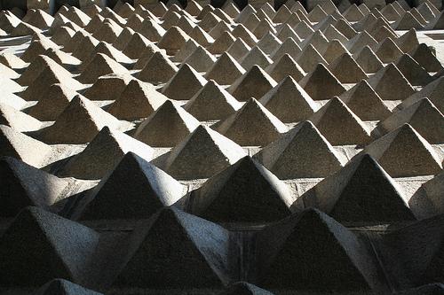 Detalle de la fachada de la Casa de los Picos, Segovia.