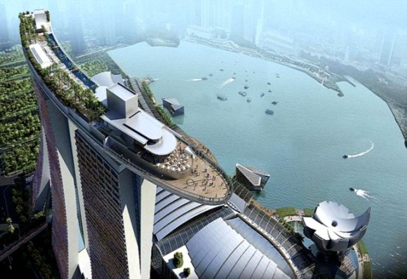 Hotel Marina Bay Sands en Singapur.