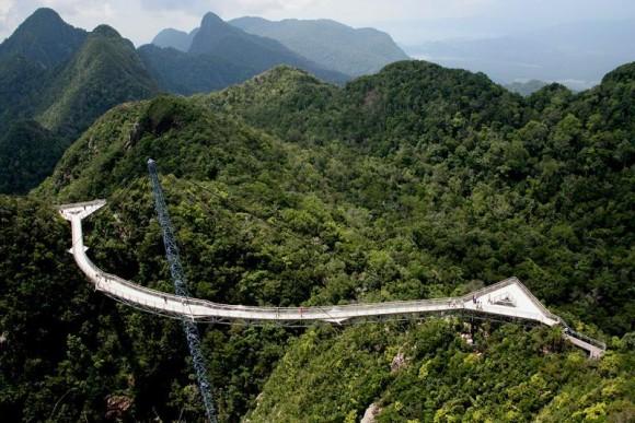 El Sky Bridge, en la isla de Langkawi, frente a la costa de Malaysia y Tailandia.