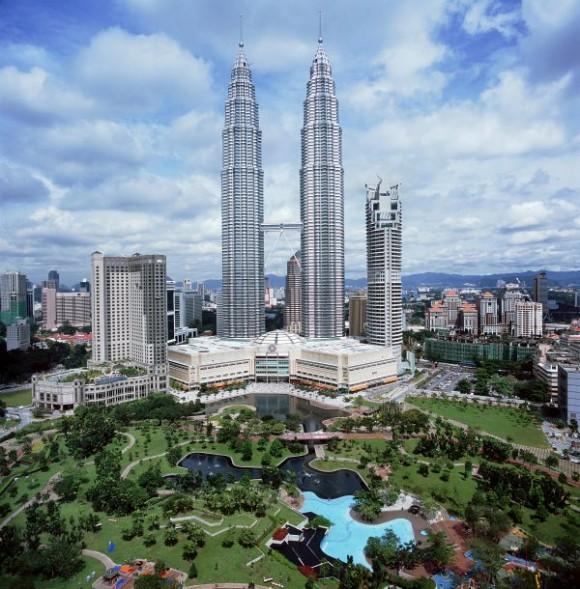 Las inevitables Torres Petronas que pusieron Malaysia en el mapa.