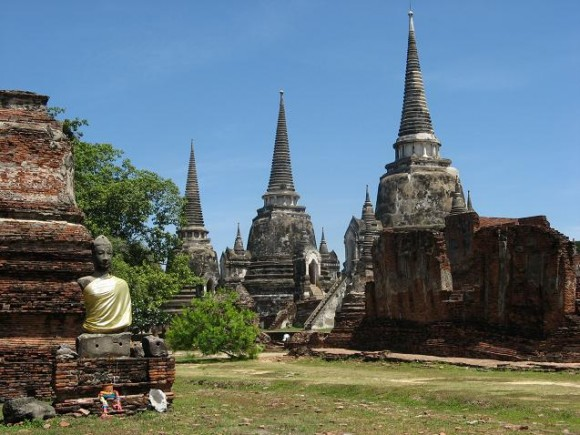 Templo Wat Phra Si Sanphet en Ayutthaya.
