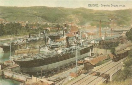 Astilleros en Bilbao.