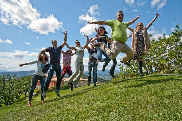 Algunos de los participantes del evento nomaders en Bilbao