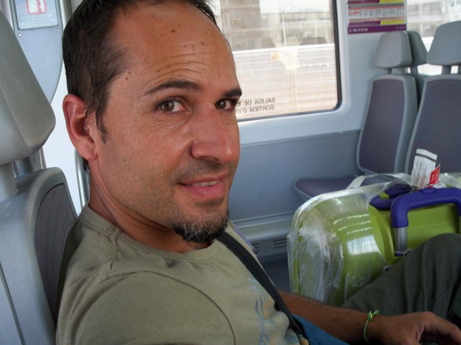 En el tren de camino a casita...