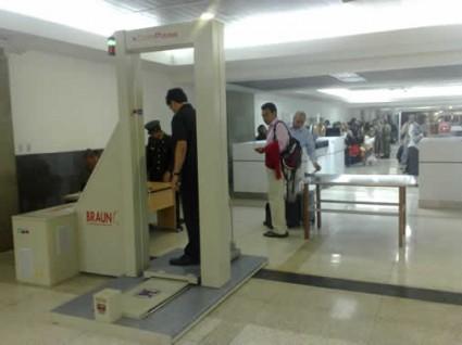 Escanner corporal antidroga del aeropuerto Maiquetía, Caracas.