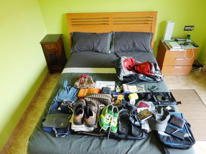 Todo lo que me quiero llevar de viaje.