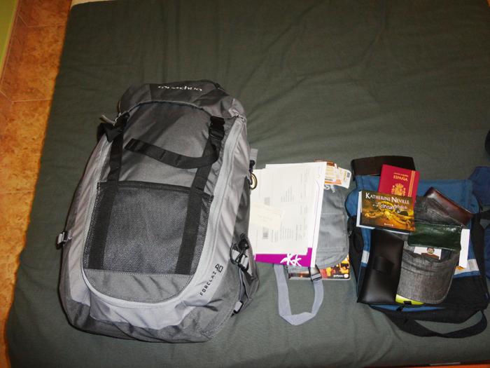 Segunda opción: todo en la mochila de 40 litros.