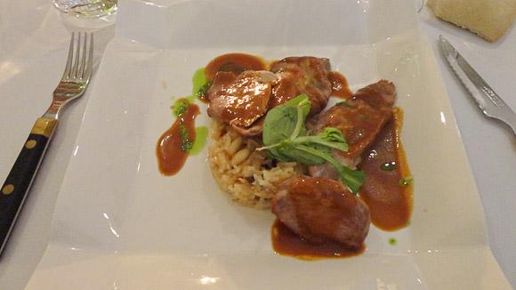 Plato principal de la cena en el restaurante MR1.
