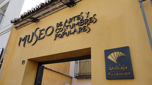 Entrada principal del Museo de artes y costumbres populares de Málaga.