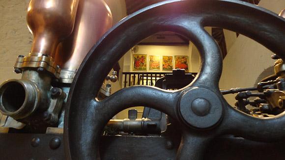 Los espacios del museo se comunican unos con otros.