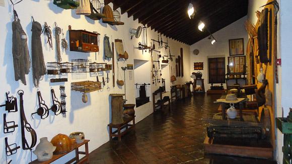 Sala dedicada al campo y sus productos tradicionales como las pasas y el pan de higos.