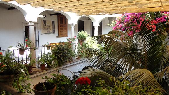 El patio central, alma de las casas andaluzas.