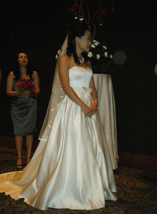 Boda de Gin y Dan en Kuala Lumpur: la novia.