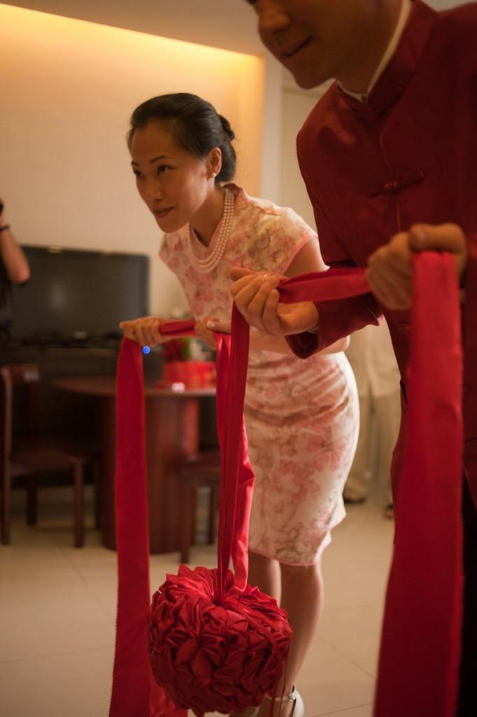 Oraciones previas en la ceremonia matrimonial tradicional china