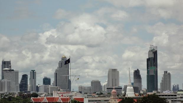 Vistas de los edificios del distrito financiero.