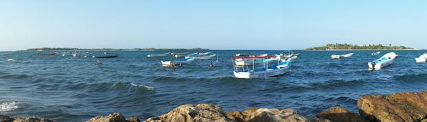 Vista de Cayo Sal desde el puerto de Chichiriviche.