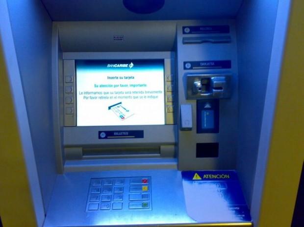 Cajero de Bancaribe, Venezuela.