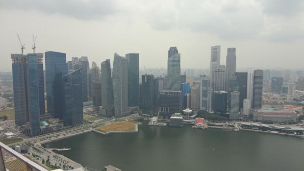 Área comercial y de negocios de Singapur en Marina Bay.