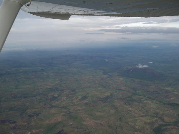 Sobrevolando el estado de Bolívar.