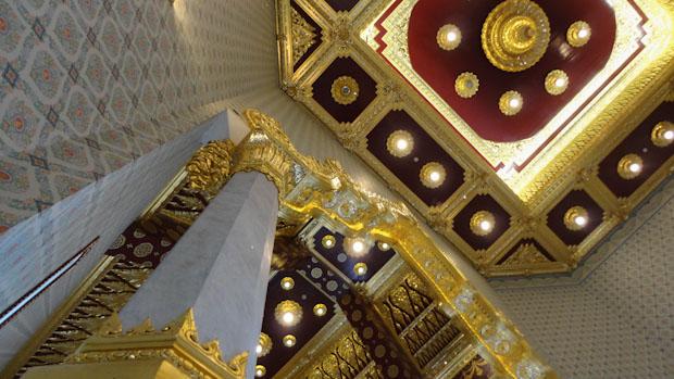 Decoración lujosa en oro y rojo colores sinónimos de fortuna y buenos augurios.