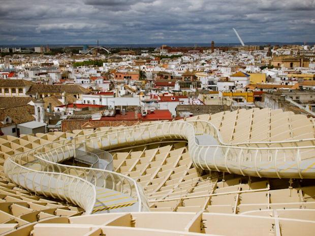 Vistas de Sevilla desde el mirador superior.