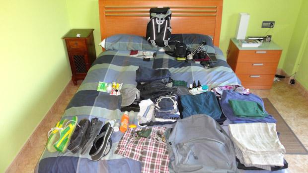 Todo el equipaje que me llevo a Marruecos.