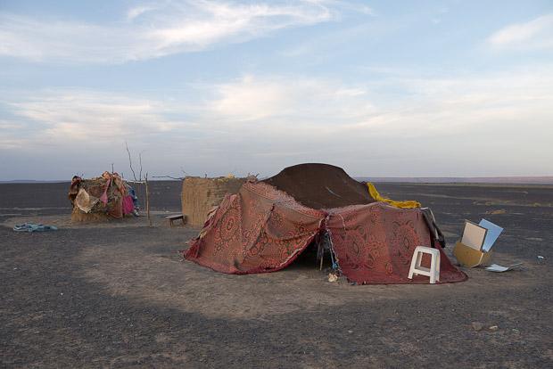 Haima de Mama en el desierto.