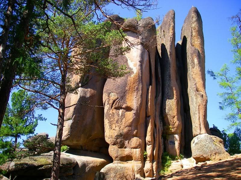 Formaciones rocosas en la reserva natural Stolby.