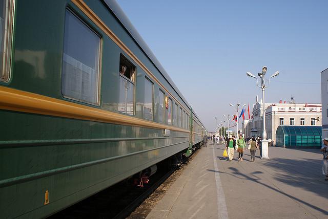 Tren de la ruta transmongoliana.