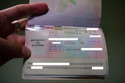 Pasaporte con visado ruso.