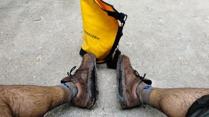 Mis pobres botas, murieron en Railay. Qué grandes momentos había compartido con ellas.