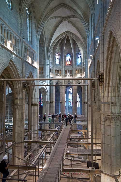 Obras en la catedral.