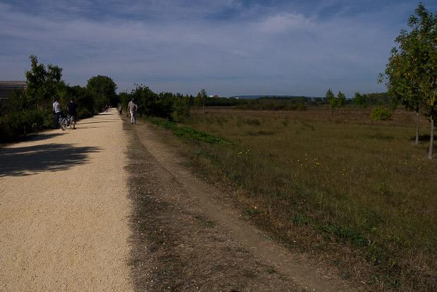 Rutas señalizadas alrededor de los parques y zonas de observación de aves.