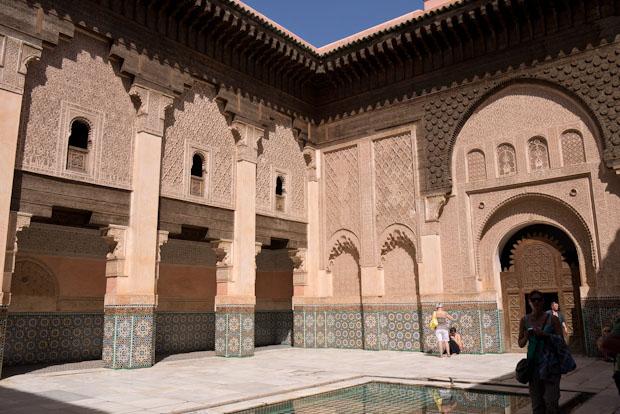 Patio central de la Madrasa Ben Yousef.