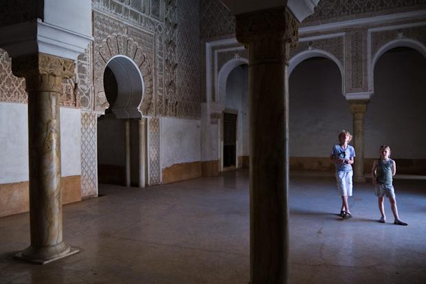 Interior de la Medersa Ben Youssef.
