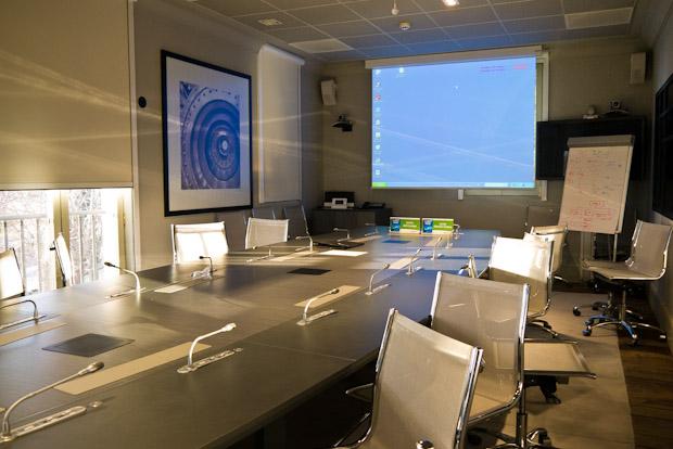 Sala de reuniones donde se imparte el curso.
