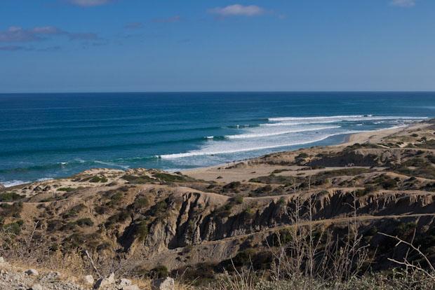 Playas y más playas de camino al Parque Nacional Cabo Pulmo.