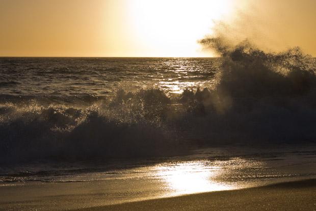 Las playas de Todos Santos son enormes y solitarias. Perfectas para un atardecer.