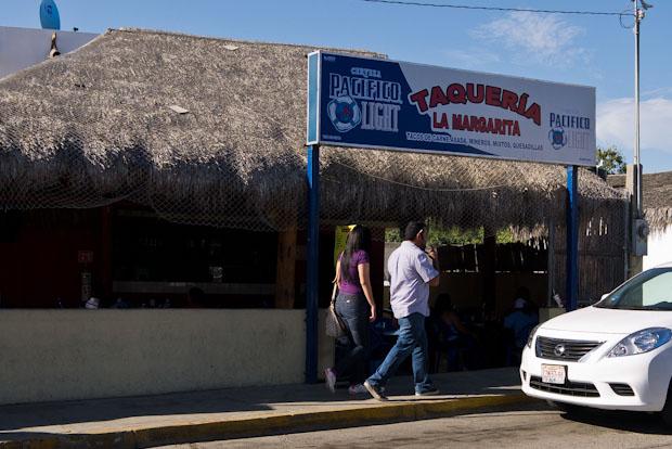 Taquería Margarita, en otra parte del pueblo que no era su centro histórico.