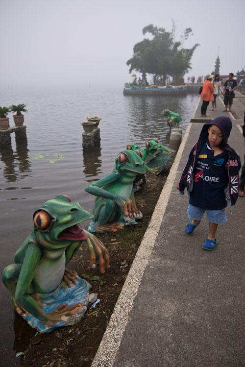Lo de las figuras de las ranas no tiene nombre...