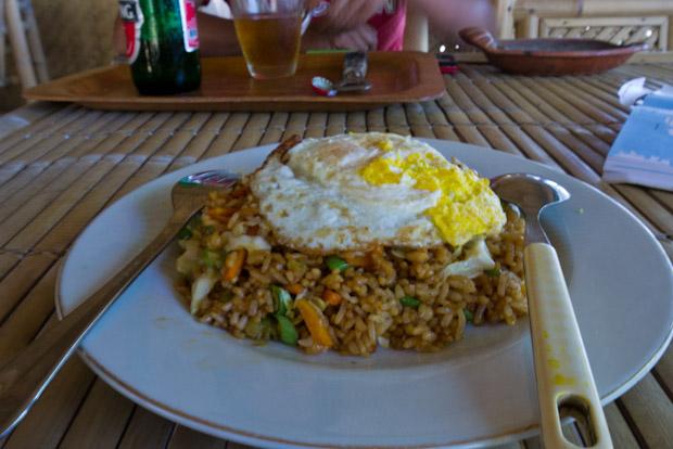 El mejor Nasi Goreng (Arroz frito) que he comido en todo el viaje.