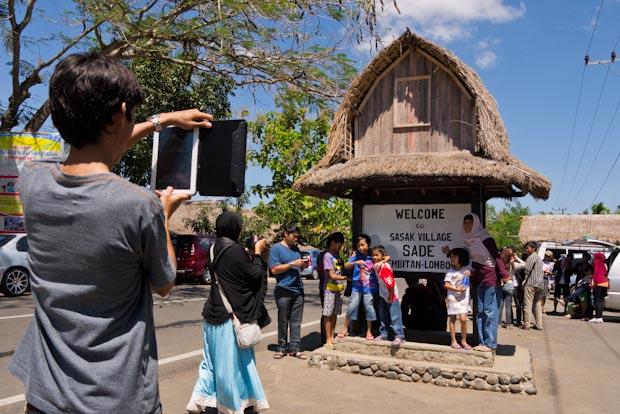 El otro pueblo Sasak, el turístico.
