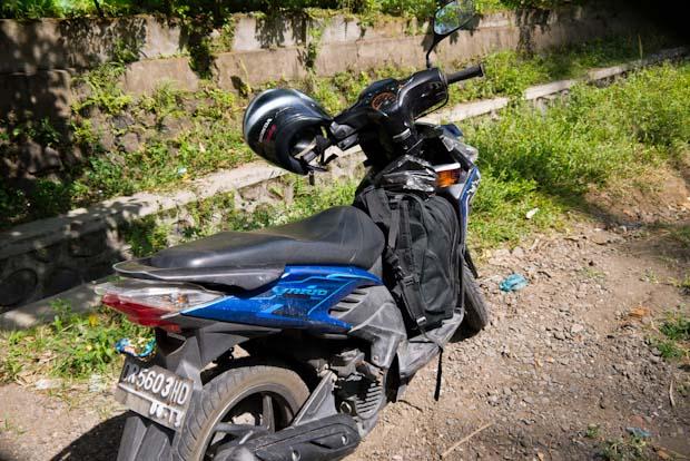La moto más limpia después de las lluvias.