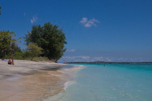 Otra playa de Gili Air.