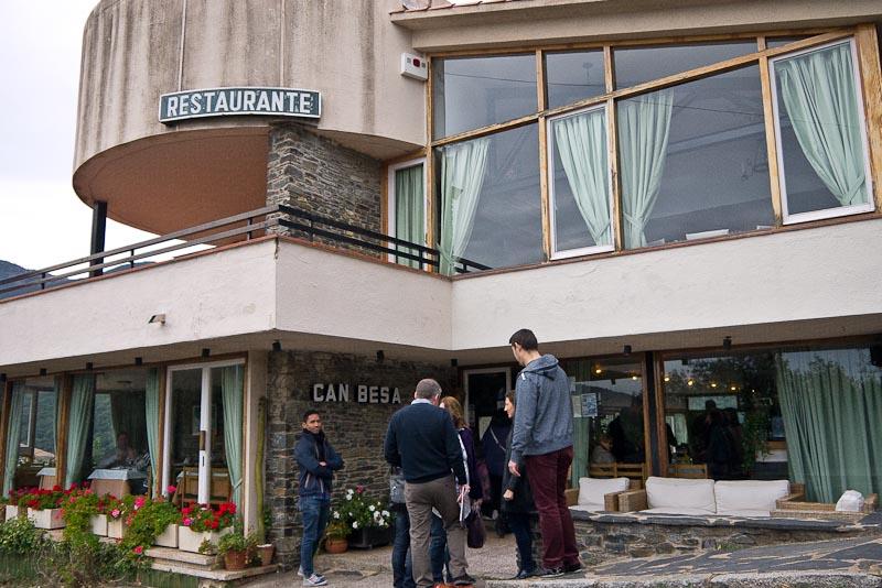 Entrada del Restaurant Can Besa, en el Montseny.