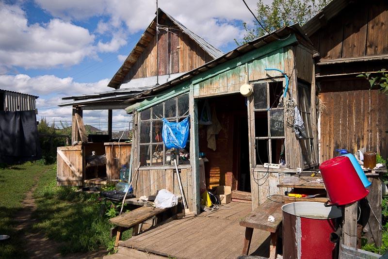 La casa de los padres de Julia, tal cual era cuando que la construyeron antes de la revolución rusa.