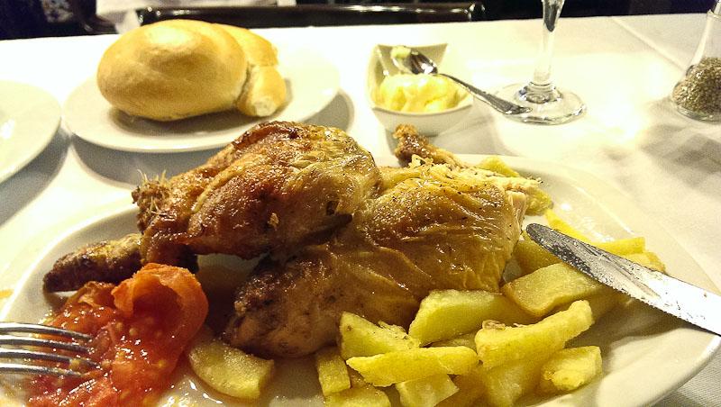 El pollo...