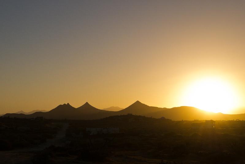 Impresionantes luces de atardecer en Cabo Pulmo.