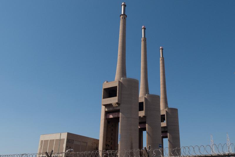 Chimeneas de la central eléctrica del Besòs.